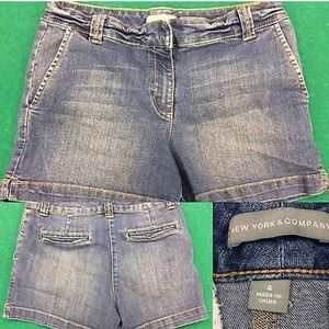 New York & Company Distressed blue Jean Shorts